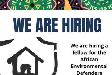 Bourse des défenseurs africains de l'environnement pour la justice naturelle